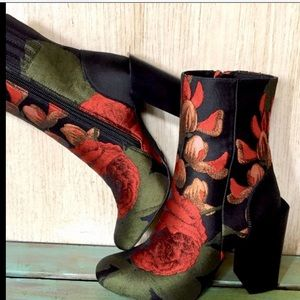 7eadc0fdd99 Jeffrey Campbell Shoes - Jeffrey Campbell red green black Rose Silky Boot 9